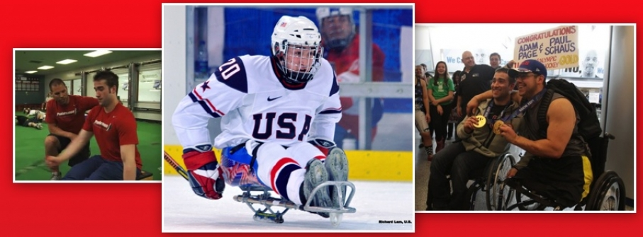 USA Mens' Sled Hockey Adam Page continued success at Olympic Games . .Read more!