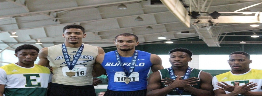 University of Buffalo's 110 meter hurdle record broken by Proformance Athlete, Ryan Billian.